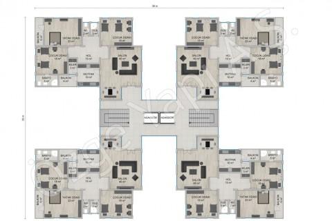 Apartment 4668 m2 - Floor Plans