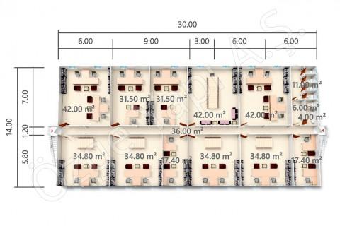 BKO 840 m2 - First Floor