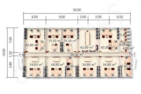 BKO 840 m2 - Ground Floor