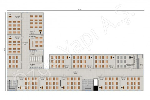 Primary School 2388 m2 - 1st and 2nd Floor
