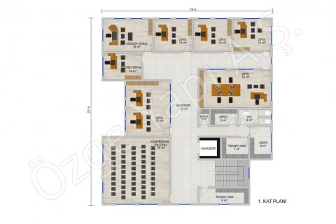 Office 697 m2 - First Floor