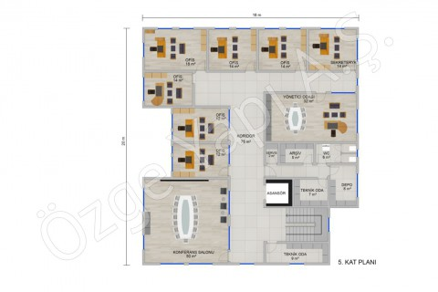 Office 697 m2 - 5th Floor