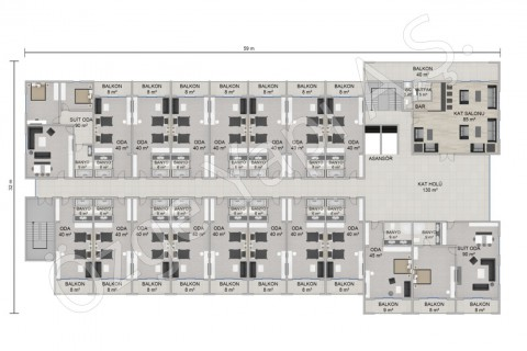 Hotel 8115 m2 - 1st and 2nd Floor