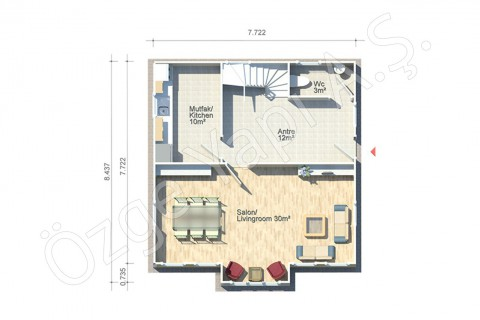 Anemon 128 m2 - Ground Floor