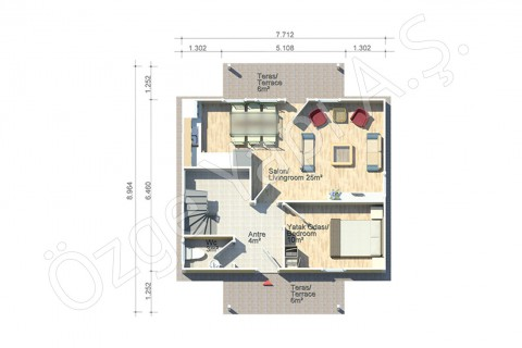 Erguvan 124 m2 - Ground Floor