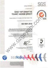 ISO 9001 UKAS Certificate